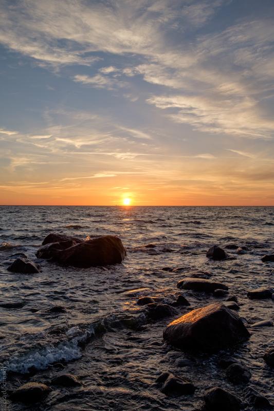 Hiddensee die letzten Sonnenstrahlen