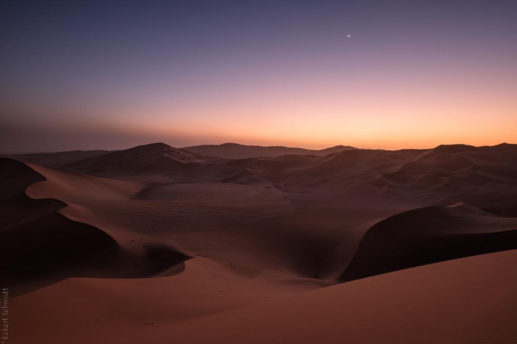 Algerien - Erg d'Admer nach Sonnenuntergang