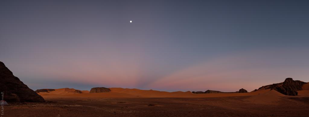 Algerien - Sahara in der Dämmerung