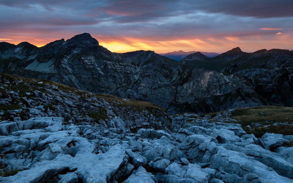 Schweiz - Karst und Alpenglühen